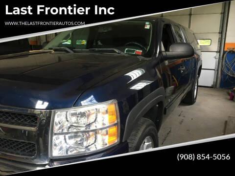 2011 Chevrolet Silverado 1500 for sale at Last Frontier Inc in Blairstown NJ