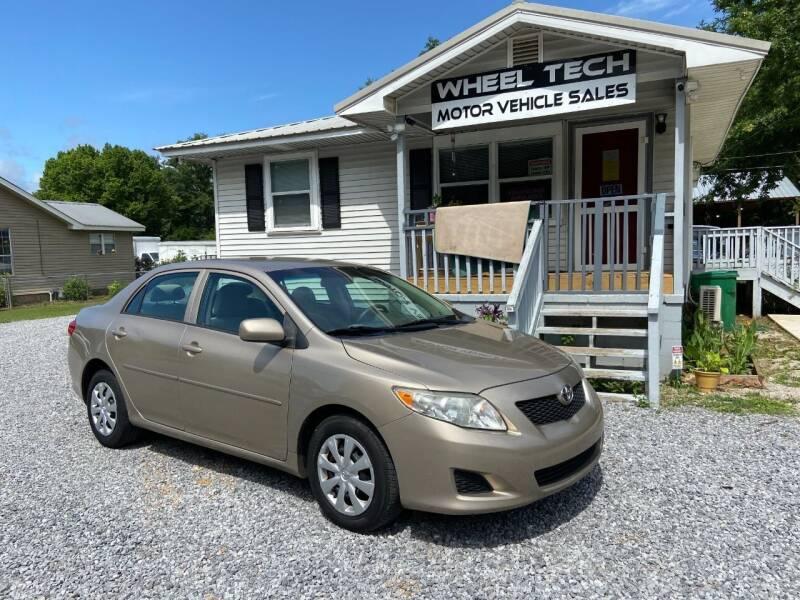 2010 Toyota Corolla for sale at Wheel Tech Motor Vehicle Sales in Maylene AL