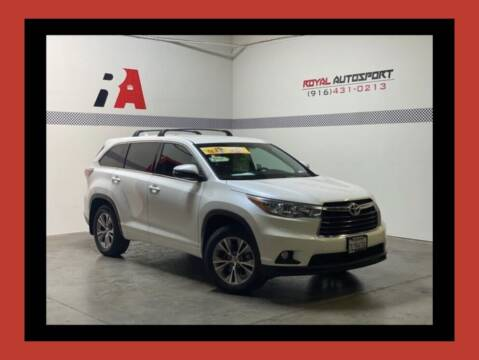 2015 Toyota Highlander for sale at Royal AutoSport in Sacramento CA