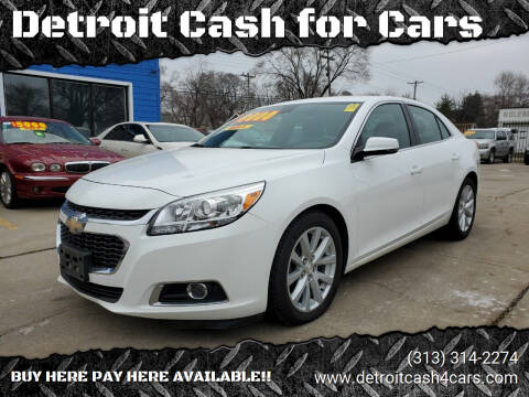 2014 Chevrolet Malibu for sale at Detroit Cash for Cars in Warren MI
