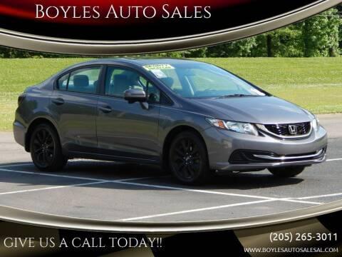 2015 Honda Civic for sale at Boyles Auto Sales in Jasper AL