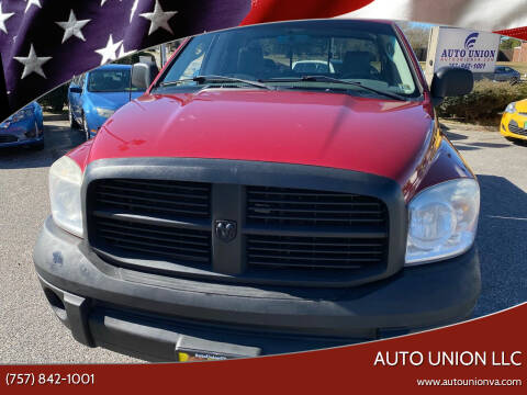 2007 Dodge Ram Pickup 1500 for sale at Auto Union LLC in Virginia Beach VA