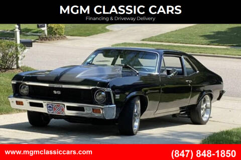 1968 Chevrolet Nova for sale at MGM CLASSIC CARS-New Arrivals in Addison IL