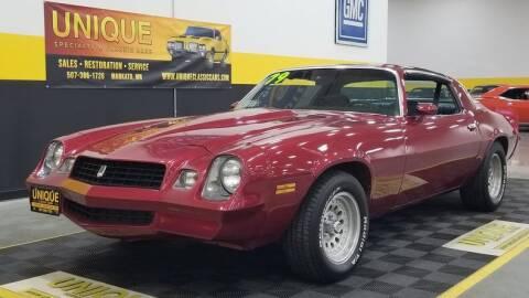 1979 Chevrolet Camaro for sale at UNIQUE SPECIALTY & CLASSICS in Mankato MN