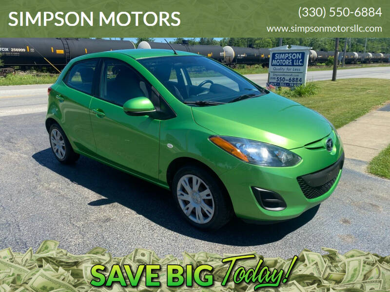 2012 Mazda MAZDA2 for sale at SIMPSON MOTORS in Youngstown OH