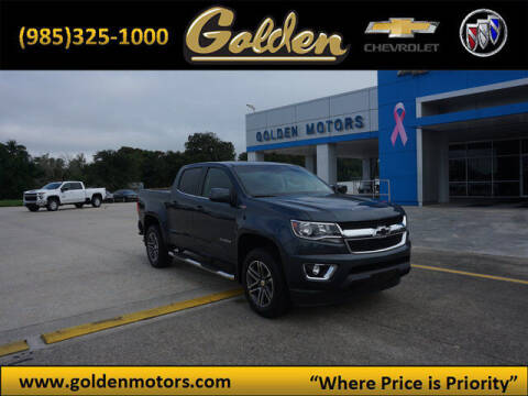2019 Chevrolet Colorado for sale at GOLDEN MOTORS in Cut Off LA