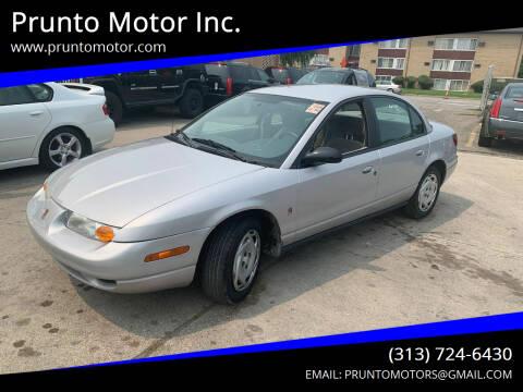 2000 Saturn S-Series for sale at Prunto Motor Inc. in Dearborn MI