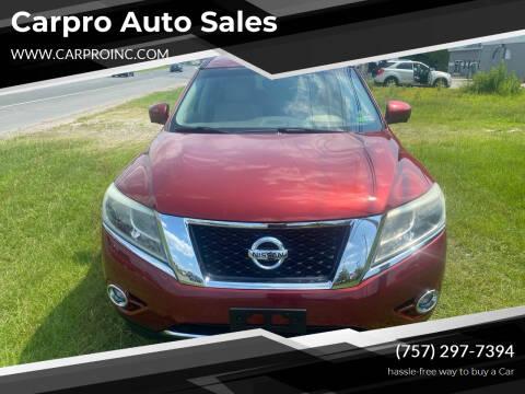 2013 Nissan Pathfinder for sale at Carpro Auto Sales in Chesapeake VA