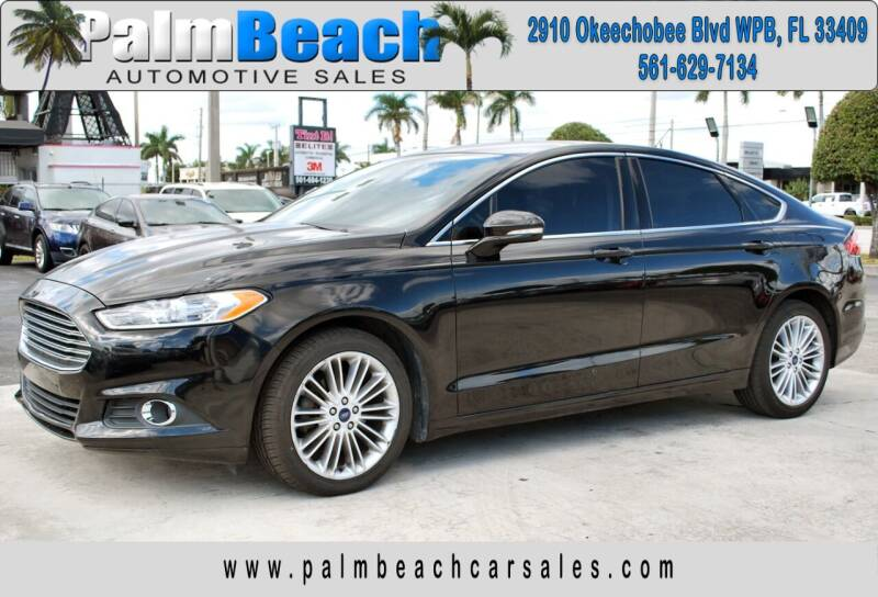 2016 Ford Fusion for sale at Palm Beach Automotive Sales in West Palm Beach FL