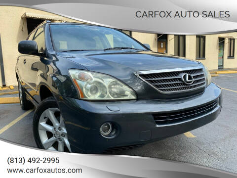 2007 Lexus RX 400h for sale at Carfox Auto Sales in Tampa FL