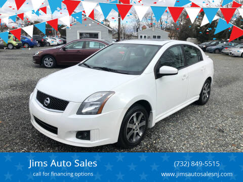 2012 Nissan Sentra for sale at Jims Auto Sales in Lakehurst NJ