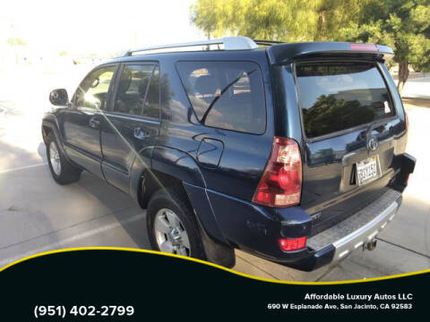 2003 Toyota 4Runner for sale at Affordable Luxury Autos LLC in San Jacinto CA