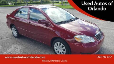 2008 Toyota Corolla for sale at Used Autos of Orlando in Orlando FL