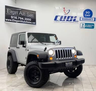 2007 Jeep Wrangler for sale at Elegant Auto Sales in Rancho Cordova CA