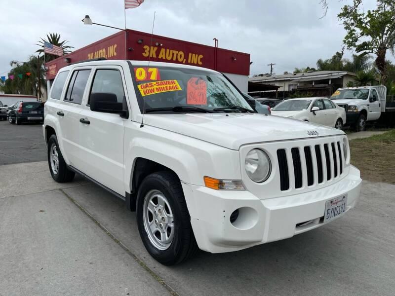 2007 Jeep Patriot for sale at 3K Auto in Escondido CA