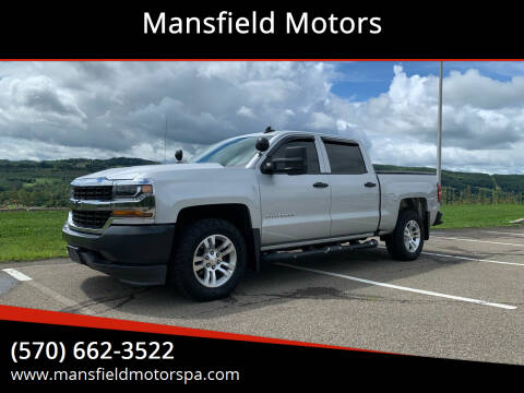 2016 Chevrolet Silverado 1500 for sale at Mansfield Motors in Mansfield PA