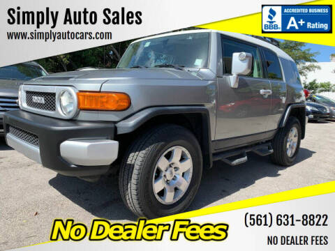 2010 Toyota FJ Cruiser for sale at Simply Auto Sales in Palm Beach Gardens FL