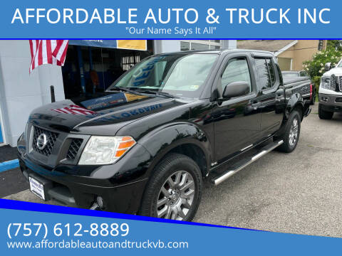 2012 Nissan Frontier for sale at AFFORDABLE AUTO & TRUCK INC in Virginia Beach VA