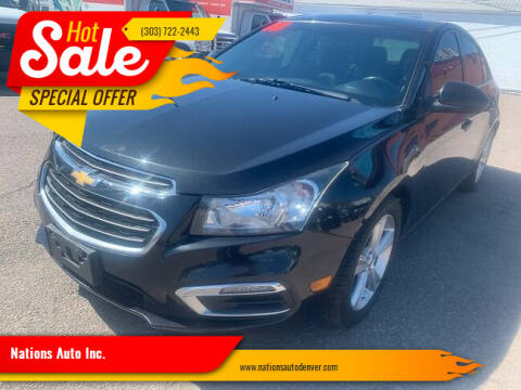 2015 Chevrolet Cruze for sale at Nations Auto Inc. in Denver CO