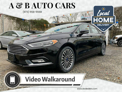 2017 Ford Fusion for sale at A & B Auto Cars in Newark NJ