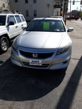 2012 Honda Accord for sale at MERROW WHOLESALE AUTO in Manchester NH