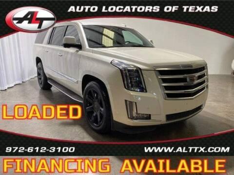 2015 Cadillac Escalade ESV for sale at AUTO LOCATORS OF TEXAS in Plano TX