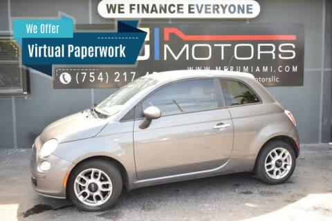 2013 FIAT 500 for sale at Meru Motors in Hollywood FL