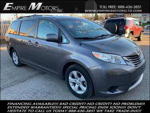 2011 Toyota Sienna for sale at Empire Motors LTD in Cleveland OH