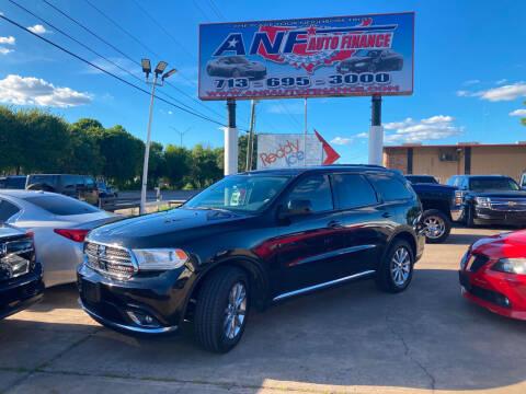 2018 Dodge Durango for sale at ANF AUTO FINANCE in Houston TX