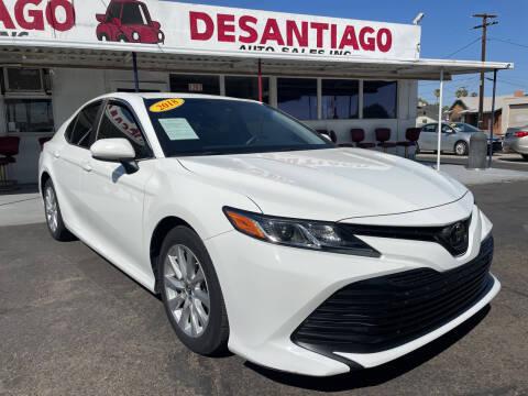 2018 Toyota Camry for sale at DESANTIAGO AUTO SALES in Yuma AZ