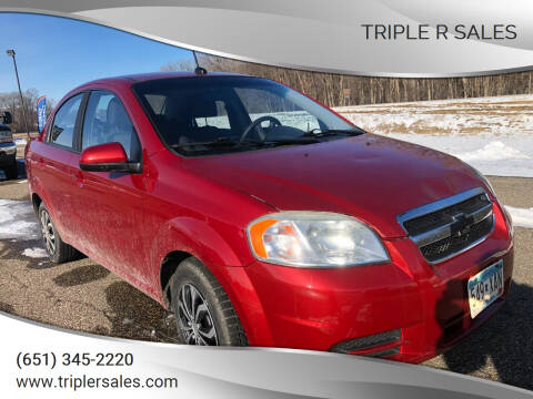 2010 Chevrolet Aveo for sale at Triple R Sales in Lake City MN