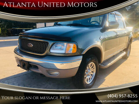 2002 Ford F-150 for sale at Atlanta United Motors in Buford GA