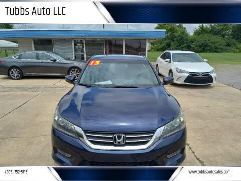 2013 Honda Accord for sale at Tubbs Auto LLC in Tuscaloosa AL