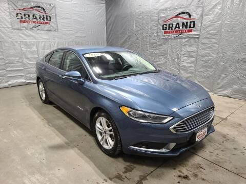 2018 Ford Fusion Hybrid for sale at GRAND AUTO SALES in Grand Island NE