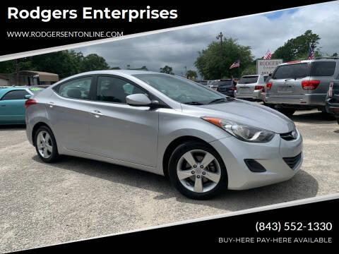 2013 Hyundai Elantra for sale at Rodgers Enterprises in North Charleston SC
