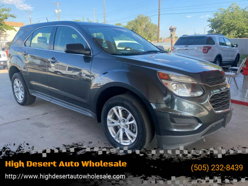2017 Chevrolet Equinox for sale at High Desert Auto Wholesale in Albuquerque NM