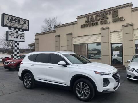 2019 Hyundai Santa Fe for sale at JACK'S MOTOR COMPANY in Van Buren AR