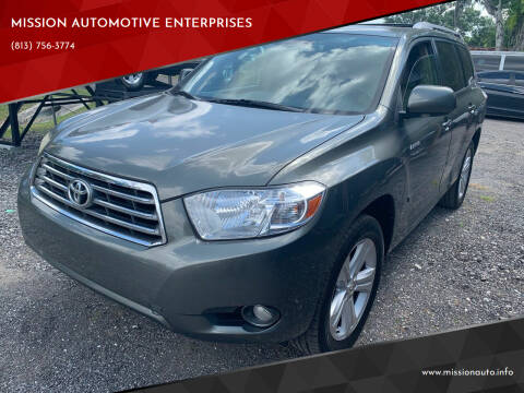 2009 Toyota Highlander for sale at MISSION AUTOMOTIVE ENTERPRISES in Plant City FL
