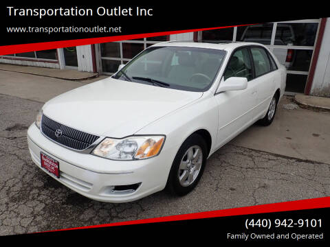 2002 Toyota Avalon for sale at Transportation Outlet Inc in Eastlake OH