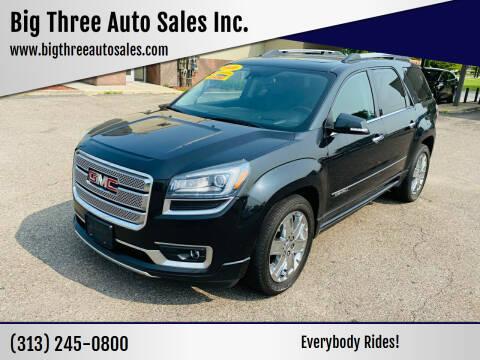 2015 GMC Acadia for sale at Big Three Auto Sales Inc. in Detroit MI