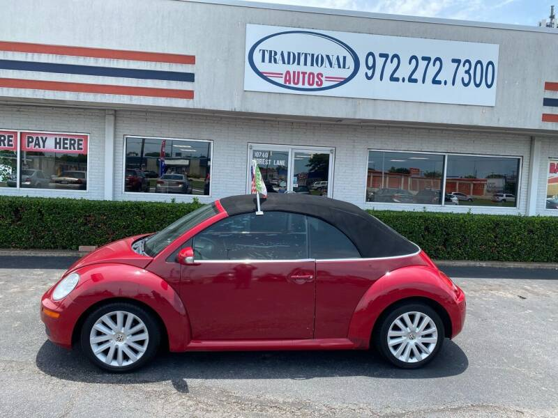 2010 Volkswagen New Beetle Convertible for sale at Traditional Autos in Dallas TX