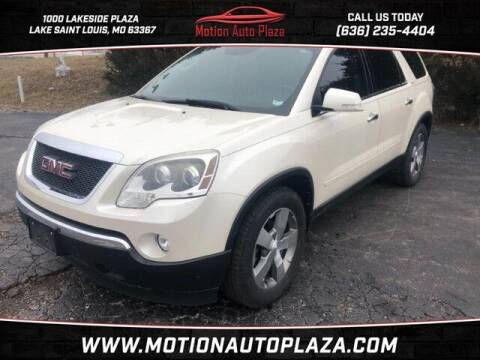 2012 GMC Acadia for sale at Motion Auto Plaza in Lakeside MO