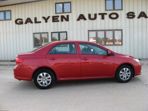 2010 Toyota Corolla for sale at Galyen Auto Sales Inc. in Atkinson NE