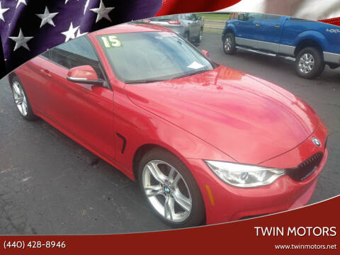 2015 BMW 4 Series for sale at TWIN MOTORS in Madison OH