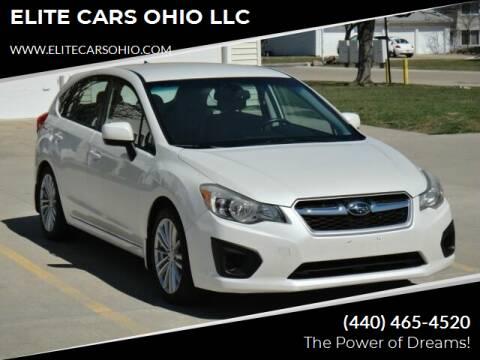 2012 Subaru Impreza for sale at ELITE CARS OHIO LLC in Solon OH