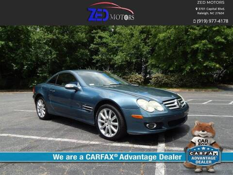 2007 Mercedes-Benz SL-Class for sale at Zed Motors in Raleigh NC