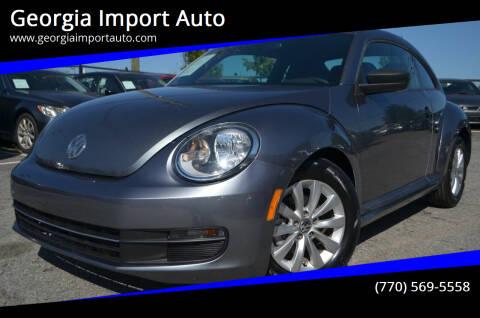 2014 Volkswagen Beetle for sale at Georgia Import Auto in Alpharetta GA