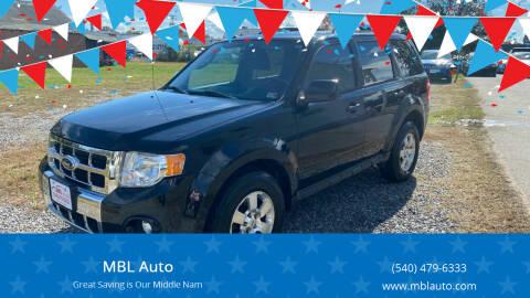 2012 Ford Escape for sale at MBL Auto in Fredericksburg VA
