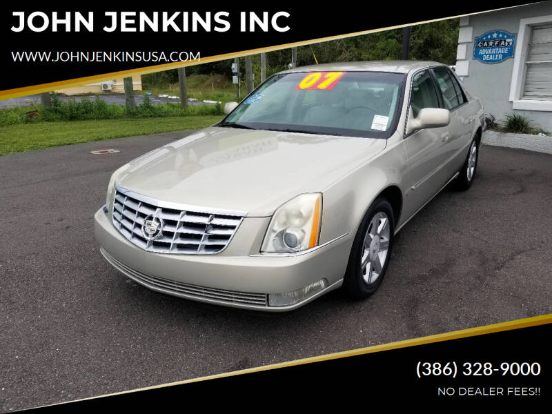 2007 Cadillac DTS for sale at JOHN JENKINS INC in Palatka FL