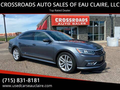 2018 Volkswagen Passat for sale at CROSSROADS AUTO SALES OF EAU CLAIRE, LLC in Eau Claire WI